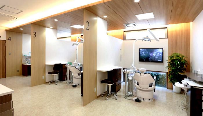 かみふご歯科クリニックの診察室